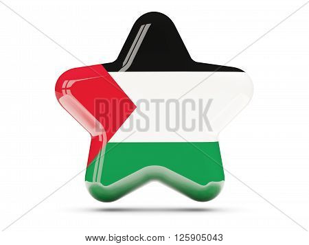 Star Icon With Flag Of Palestinian Territory