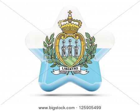 Star Icon With Flag Of San Marino