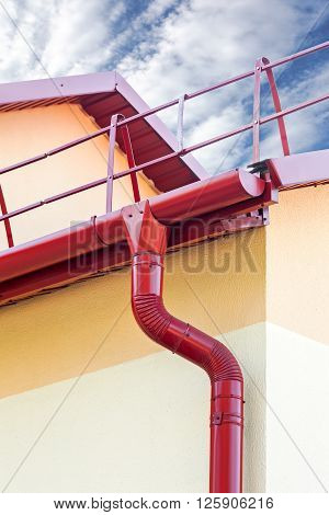 Guttering And Drainpipe On House
