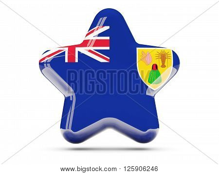 Star Icon With Flag Of Turks And Caicos Islands