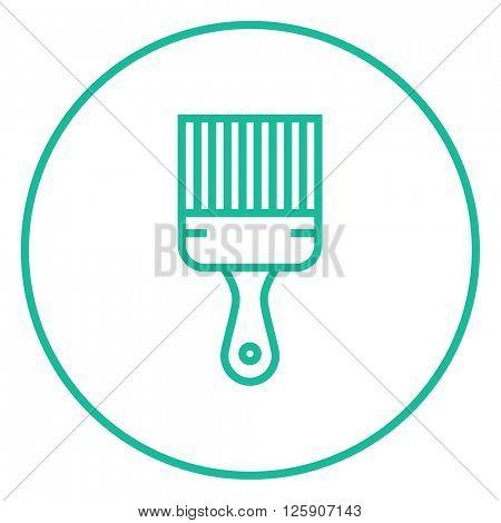 Paintbrush line icon.