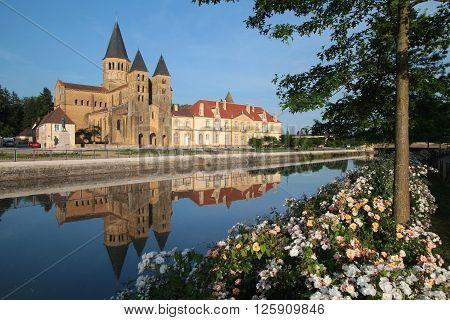 Paray, France, June 8, 2014 : The Basilica Of Paray-le-monial Is A Romanesque Church In Paray-le-mon