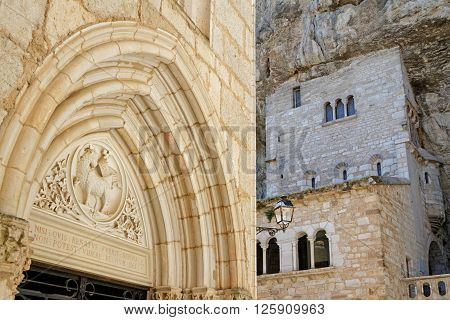 Rocamadour, France, June 22, 2015 : Rocamadour Attracts Visitors For Its Setting In A Gorge Above A