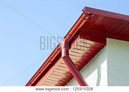 New Roof With Rain Gutter