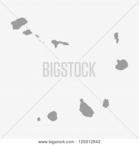 Cape Verde map in gray on a white background