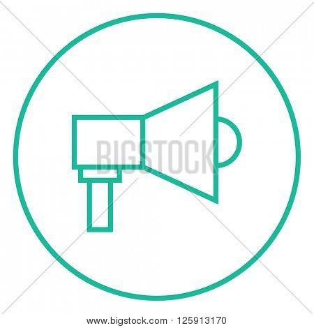 Mmegaphone line icon