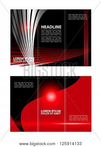 Red brochure tri fold template. tri fold business brochure template