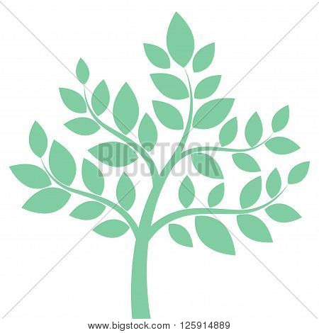 Decorative Simple Tree In Green. Vector Illustration