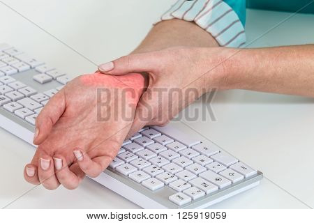 Professional desease from people  working with  computer