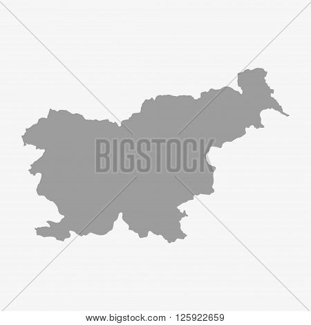 Slovenia Map In Gray On A White Background