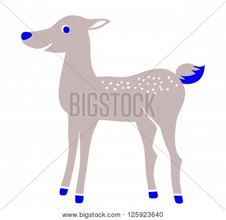 Incredible fawn or deer isolated on white background