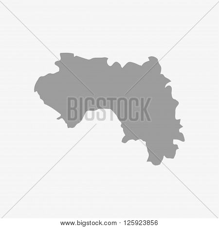 Map Of Guinea In Gray On A White Background