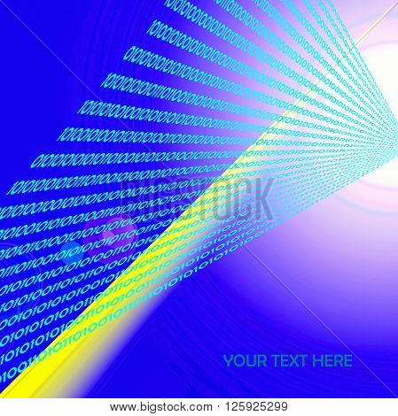 The abstract gradient's background with digit numbers one and zero