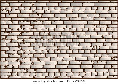 Vector Texture Of Ivory Old Brick Wall. Vector Illustration