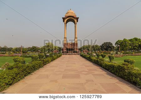 The Canopy located near India Gate in Delhi during the day.