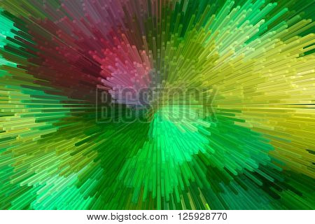 Abstract 3D Extrude Style Bokeh Background Of Light
