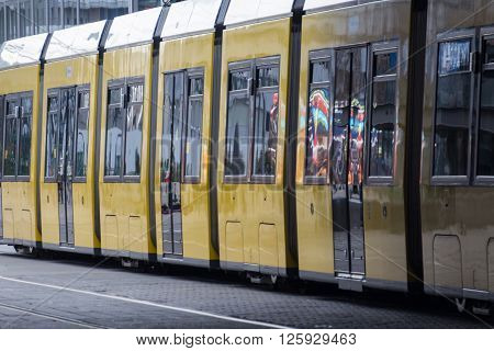Tram, Public Transportation Train In Berlin, Germany