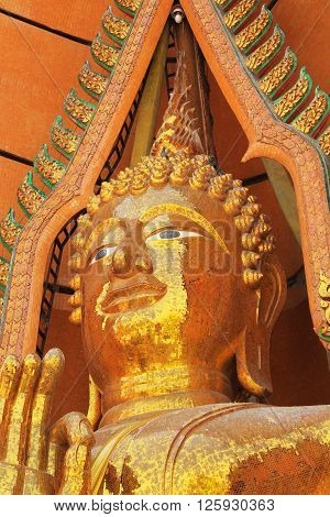 Great Buddha statue in the temple in Thailand