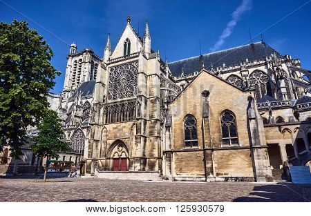Gothic Saint-Pierre-et-Saint-Paul Cathedral in Troyes in France