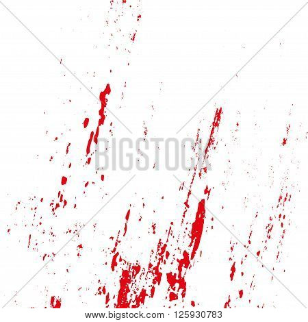 Grunge Blood Splatters On A White Background. Vector Illustration