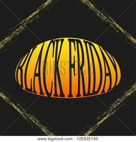 Black Friday Grunge Frame And Text. Vector Illustration