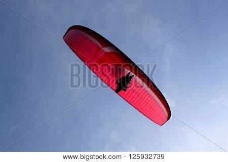 Parachute from down flying free in the sky ** Note: Visible grain at 100%, best at smaller sizes