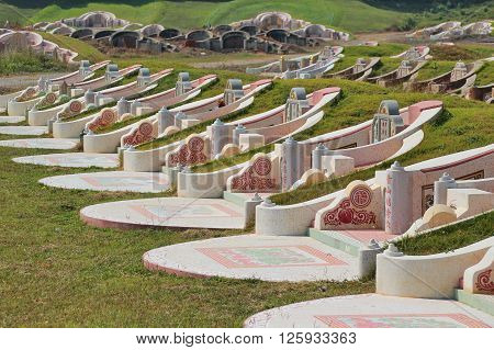 Chinese Grave called Fengshui in up-country, Thailand