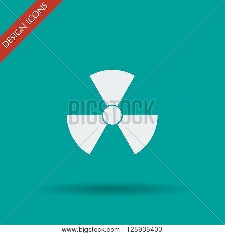 radiation symbol. Flat design style eps 10