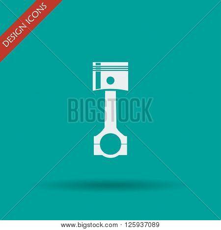 Piston icon. Flat design style eps 10