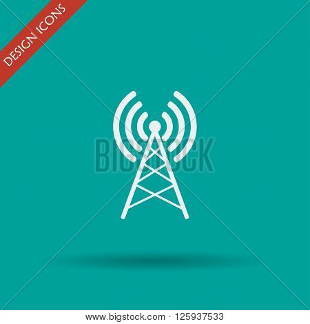 Antenna icon Vector flat Illustration EPS 10