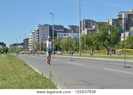 Runner During Marathon Race
