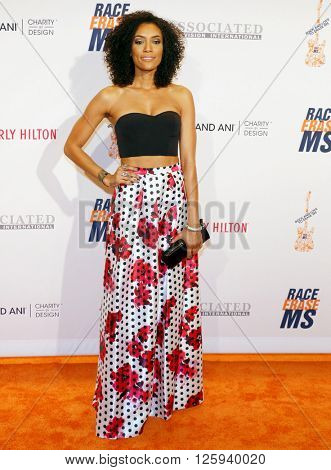 Annie Ilonzeh at the 23rd Annual Race To Erase MS Gala held at the Beverly Hilton Hotel in Beverly Hills, USA on April 15, 2016.