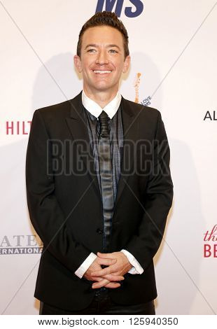 David Faustino at the 23rd Annual Race To Erase MS Gala held at the Beverly Hilton Hotel in Beverly Hills, USA on April 15, 2016.