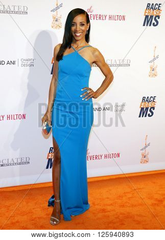 Shaun Robinson at the 23rd Annual Race To Erase MS Gala held at the Beverly Hilton Hotel in Beverly Hills, USA on April 15, 2016.