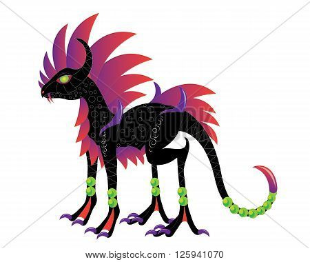 Dragon similar to a horse with a thorn on a tail