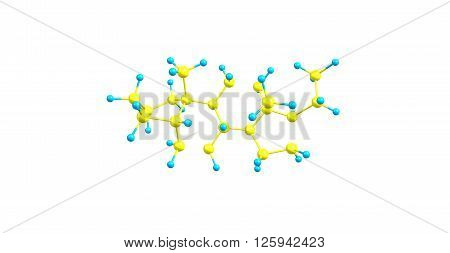 Pregnane is a parent of progesterone. It is a parent hydrocarbon for two series of steroids, 3d illustration