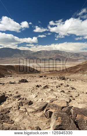 scenic view of the Badwater Basin in Death Valley