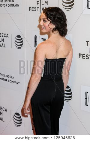 NEW YORK, NY - APRIL 16:Stefania LaVie Owen attdens at 'All We Had' Premiere - 2016 Tribeca Film Festival at BMCC Tribeca Performing Arts Center on April 15, 2016 in New York City