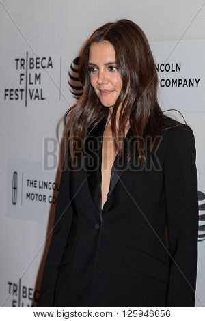 Manhattan, New York, USA. 15 April, 2016.Actress Katie Holmes attends the 'All We Had' Premiere during the 2016 Tribeca Film Festival at BMCC John Zuccotti Theater on April 15, 2016 in New York City.