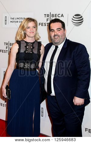 NEW YORK, NY - APRIL 16:Producer Berry Welsh and his wife Emily attdens  at 'All We Had' Premiere - 2016 Tribeca Film Festival at BMCC Tribeca Performing Arts Center on April 15, 2016 in New York City