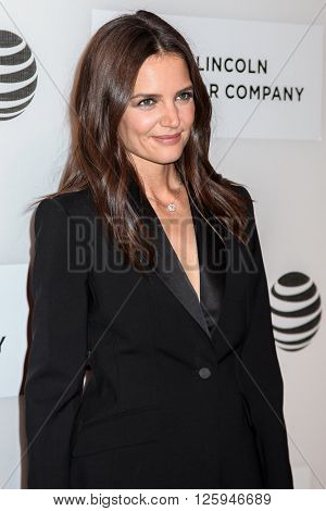NEW YORK, NY - APRIL 16: Katie Holmes attdens  at 'All We Had' Premiere - 2016 Tribeca Film Festival at John Zuccotti Theater at BMCC Tribeca Performing Arts Center on April 15, 2016 in New York City