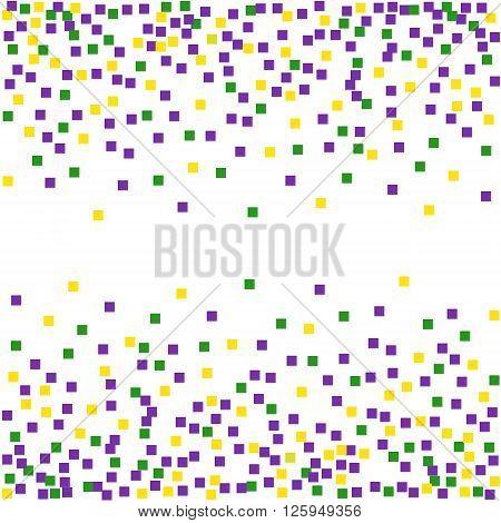 Mardi Gras background with confetti. Vector illustration.