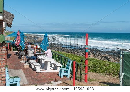 PORT ELIZABETH SOUTH AFRICA - FEBRUARY 27 2016: The view from a restaurant in Seaview near Port Elizabeth