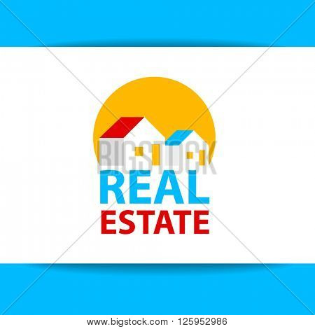 Creative abstract real estate icon logo and business card template.Real Estate vector logo design template. Real Estate Logo Design. Vector illustration.