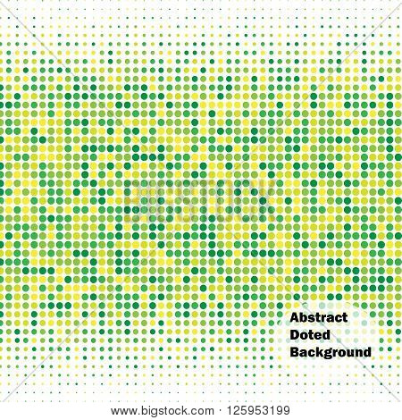 Abstract doted green and yellow background. Halftone. Vector illustration for use in your design.
