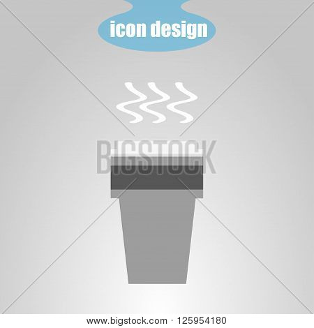 Icon of a plastic cup with a hot drink