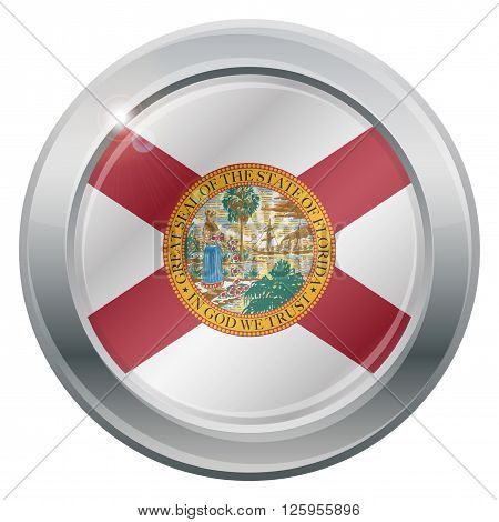 Florida Flag Silver Icon