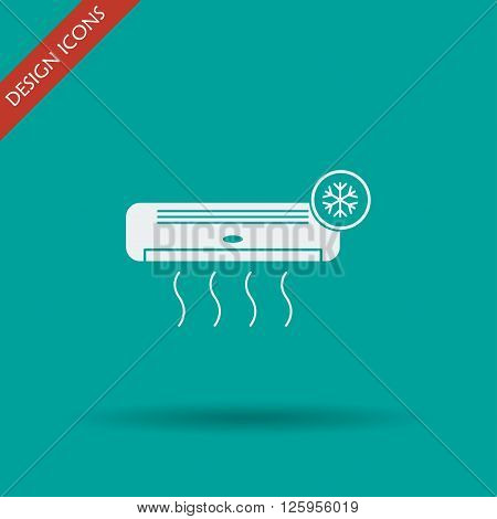 Air conditioner icon. Flat design style eps 10