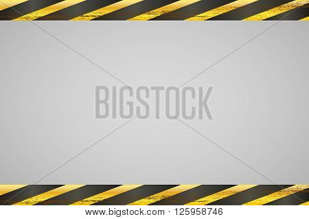 Background with two yellow black ribbons. Vector illustration
