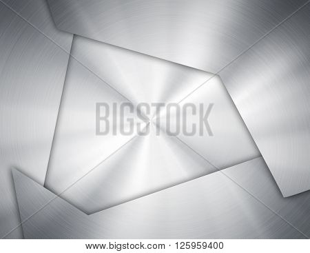 abstract silver metal design background
